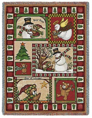 Christmas Bear Patchwork (Tapestry Throw)