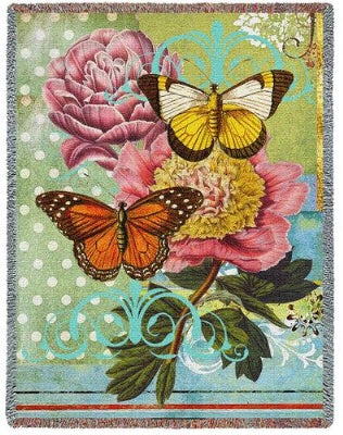 Botanical Coquette (Tapestry Throw)