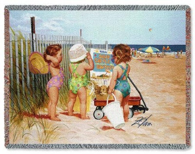 Beach Babies (Tapestry Throw)
