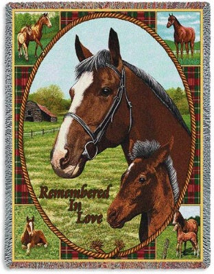 Memorial Thoroughbred (Tapestry Throw)