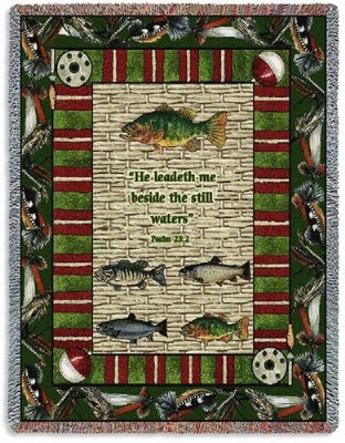 Memorial Gone Fishing (Tapestry Throw)