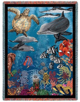 Underwater (Tapestry Throw)