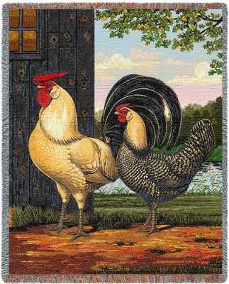 Chickens (Tapestry Throw)