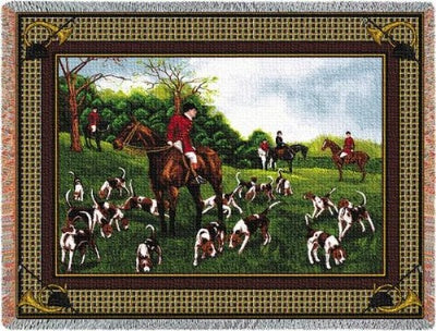 Fox Hunt Tapestry (Tapestry Throw)