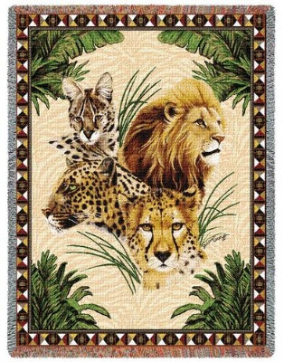 Big Cats (Tapestry Throw)