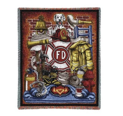 Fireman Pride (Tapestry Throw)