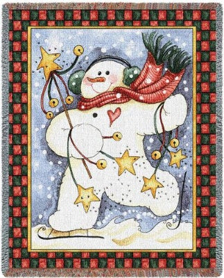 Dancing Snowman (Tapestry Throw)