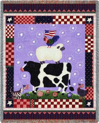Patriotic Animals (Tapestry Throw)