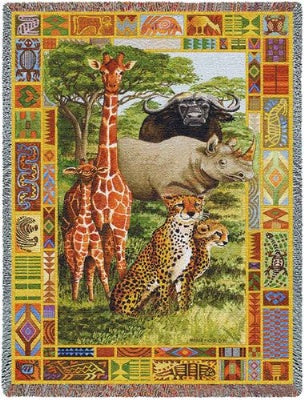 African Plains (Tapestry Throw)