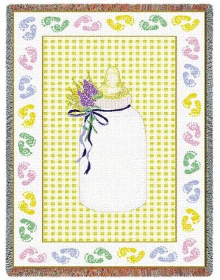 Baby Bottle Yellow (Tapestry Throw)