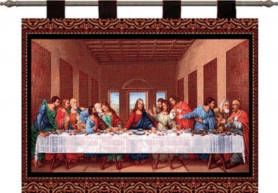 The Last Supper  (Wall Hanging with Wood Rod)