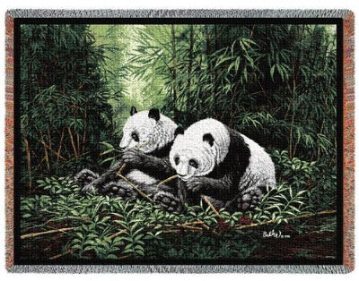 Pandas (Tapestry Throw)