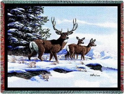 Mule Deer (Tapestry Throw)
