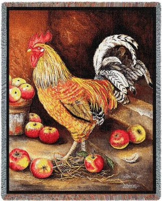 English Cockerel Tapestry (Tapestry Throw)