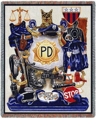Policeman Pride (Tapestry Throw)