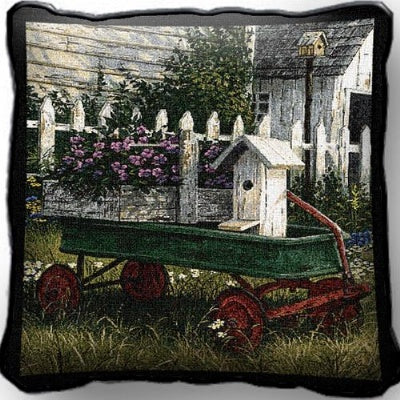 Antique Wagon Pillow (Pillow)