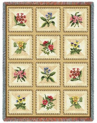 French Floral Tapestry (Tapestry Throw)