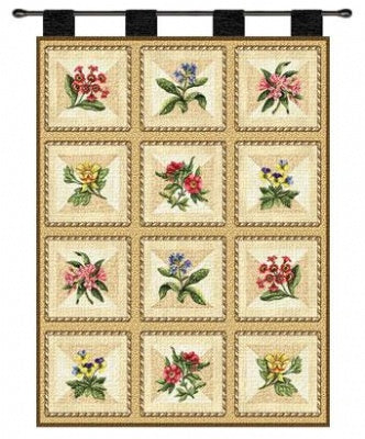 French Floral Wh (Wall Hanging)