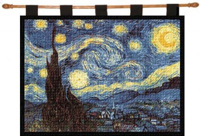 Starry Night Wh-Woodrod (Wall Hanging)