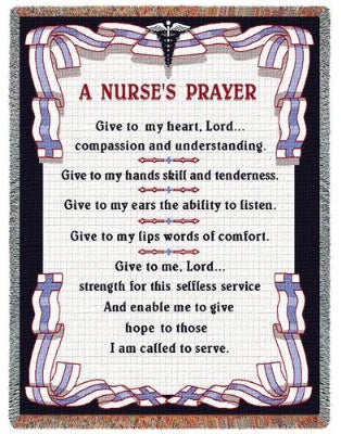 A Nurse'S Prayer (Tapestry Throw)