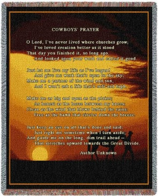 Cowboy Prayer (Tapestry Throw)