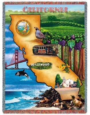 California (Tapestry Throw)