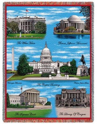 Washington Dc Tapestry (Tapestry Throw)