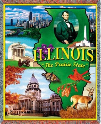 Illinois (Tapestry Throw)