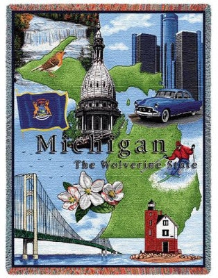 Michigan Tapestry (Tapestry Throw)