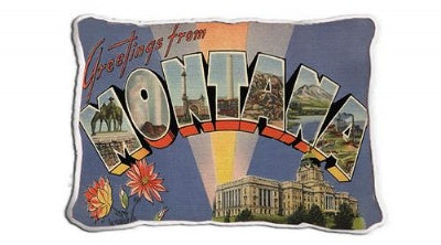 Greetings From Montana (Pillow)