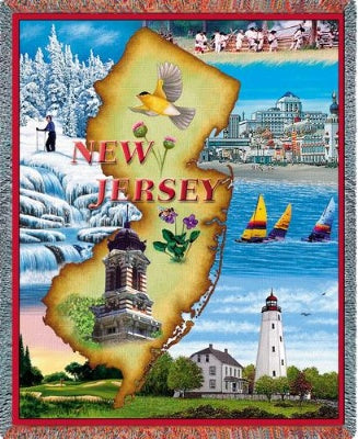 New Jersey (Tapestry Throw)
