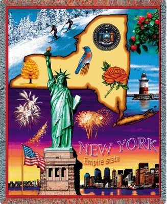 New York State (Tapestry Throw)