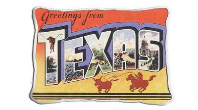 Greetings From Texas (Pillow)