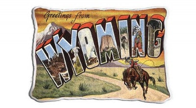 Greeting From Wyoming (Pillow)