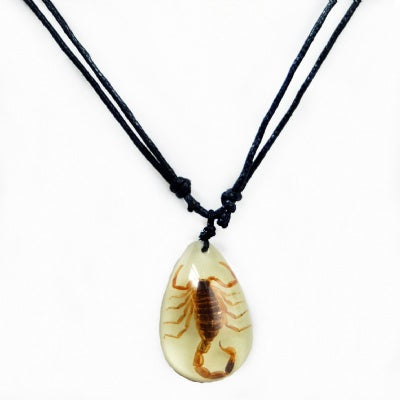 Scorpion Glow-in-the-Dark Necklace
