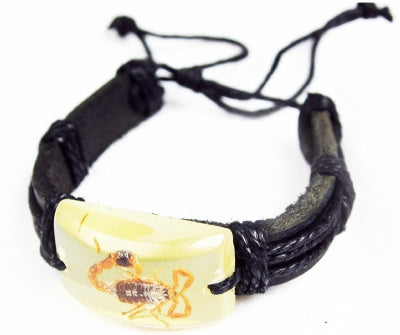 Glow Scorpion Leather Bracelet