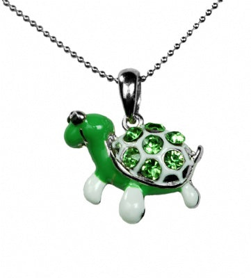 Rhinestone Turtle  Necklace