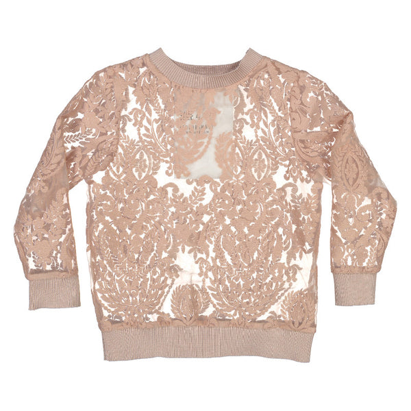 Hope Floral Organza Sweater - Skin