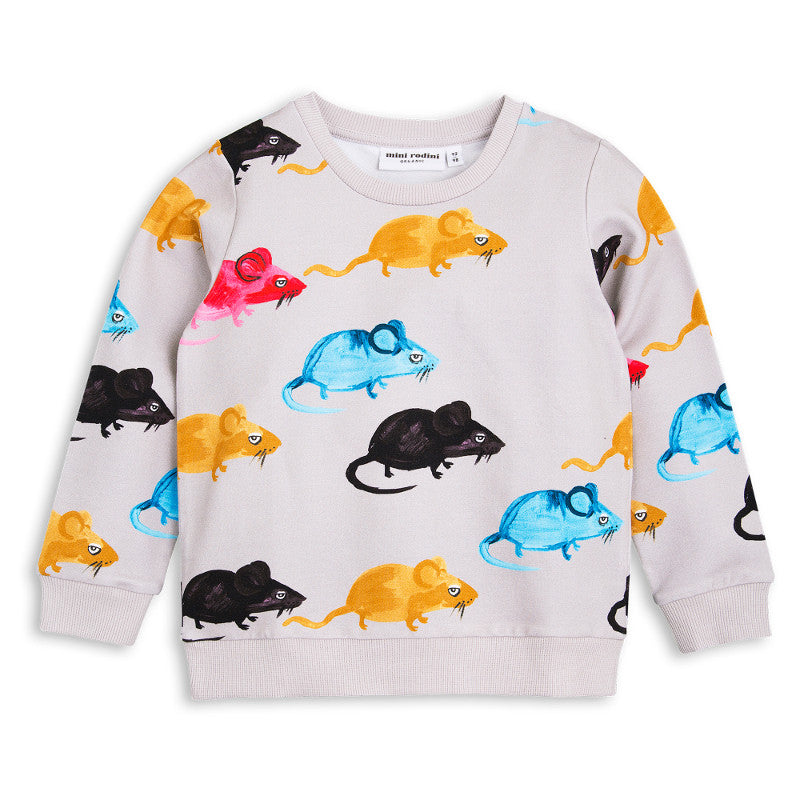 Mr Mouse Sweatshirt - Light Grey