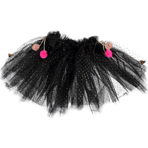 Metallic Pompom Tutu - Black