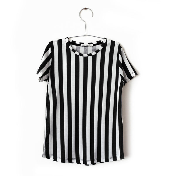 Sebastiao T-shirt - Black Stripes