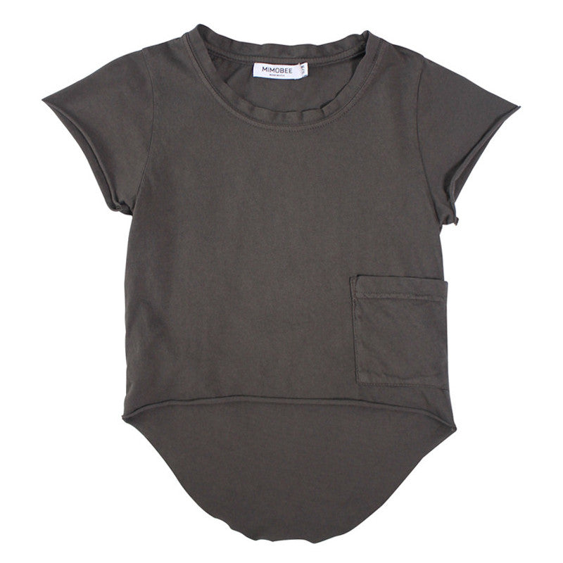 Chillers Tail Back Tee - Charcoal