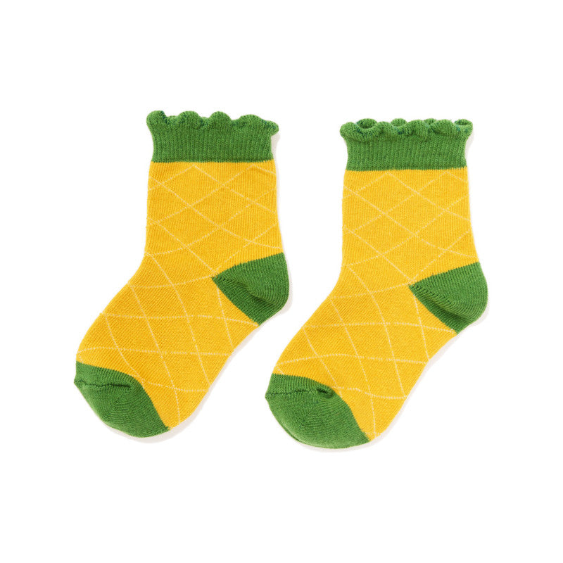 Mini Pineapple Crew Socks