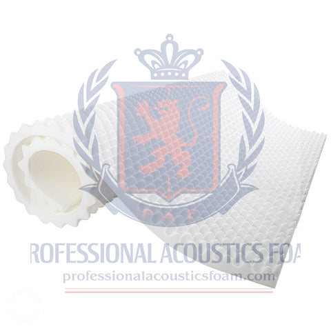 "1.5"" Convoluted Acoustic Foam White Egg Crate Panel Studio Soundproofing Foam Wall Panel 72"" X 24"" X 1.5"""