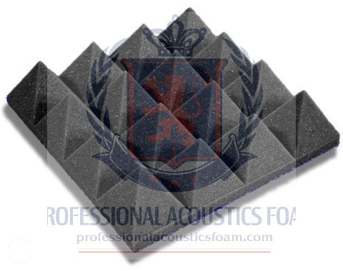 "ACOUSTIC FOAM 3"" THICK CHARCOAL PYRAMID STYLE 2FT X 8FT SHEET ( 16 SQFT)"