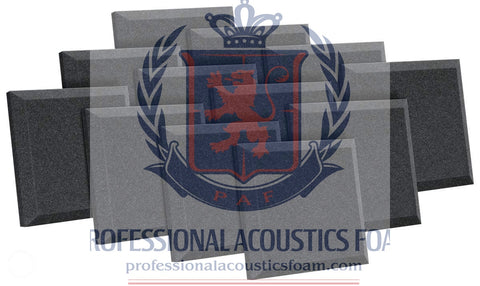"Soundproof Foam Professional Acoustics Foam 12 Pack Acoustic Studio Soundproofing Foam Bevel Tiles 12"" X 12"" X 1"""