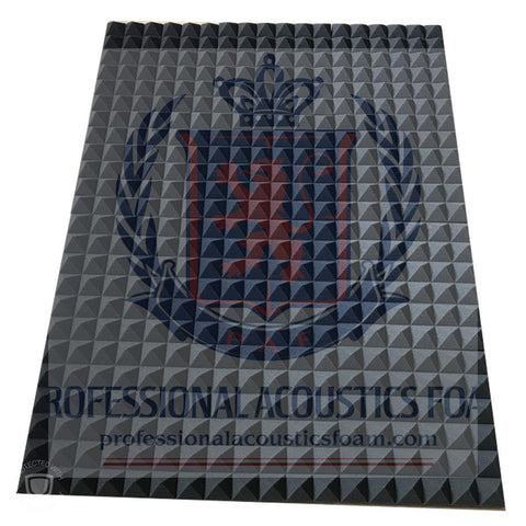 "Acoustic Foam Sound Absorption Pyramid Studio Treatment Wall Panel, 96"" X 24"" X 2"""