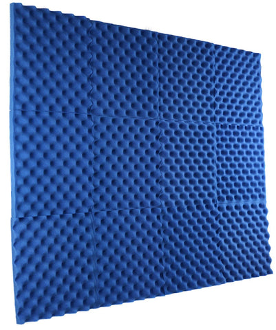 "Blue Acoustic Panels Studio Foam Egg Crate 1"" X 12"" X 12"" ( 12 Pack )"