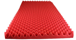 "RED SOUNDPROOF FOAM PROFESSIONAL ACOUSTIC FOAM EGG CRATE PANEL STUDIO SOUNDPROOFING FOAM WALL PANEL 72"" X 24"" X 2.5"""