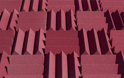 "4"" Burgundy Acoustic Foam (12 Pack Kit) - Wedge 4"" 12"" x 12"" covers 12sq Ft SoundProofing/Blocking/Absorbing Acoustical Foam - Made In USA!"